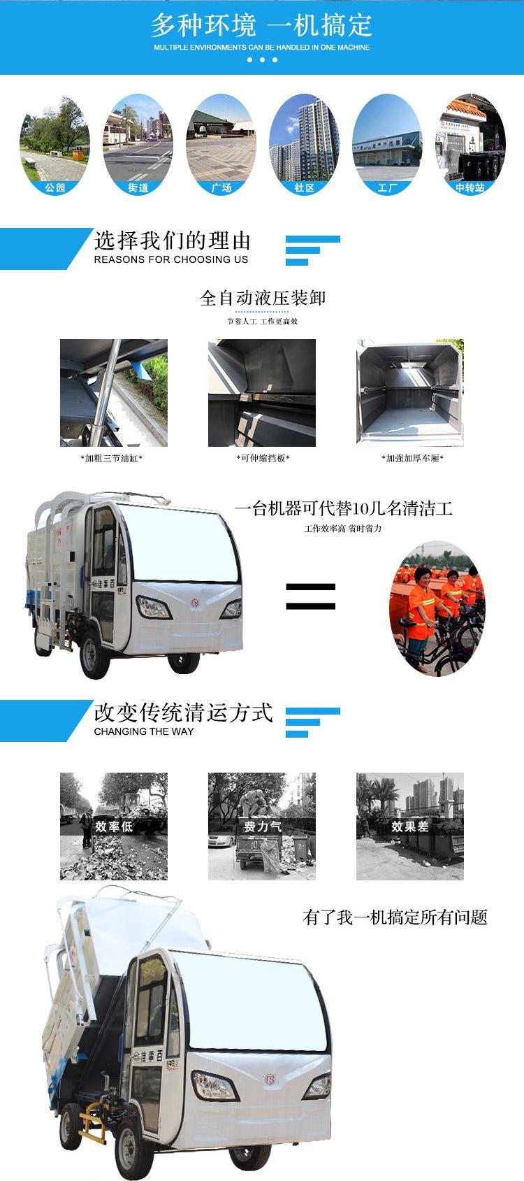 电动四轮垃圾环卫车